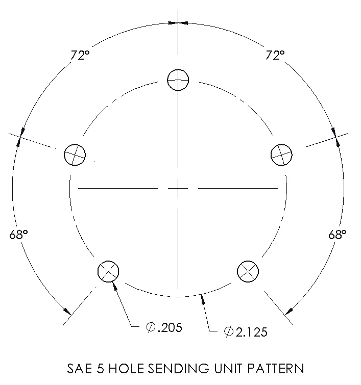 SAE 5 Hole Pattern