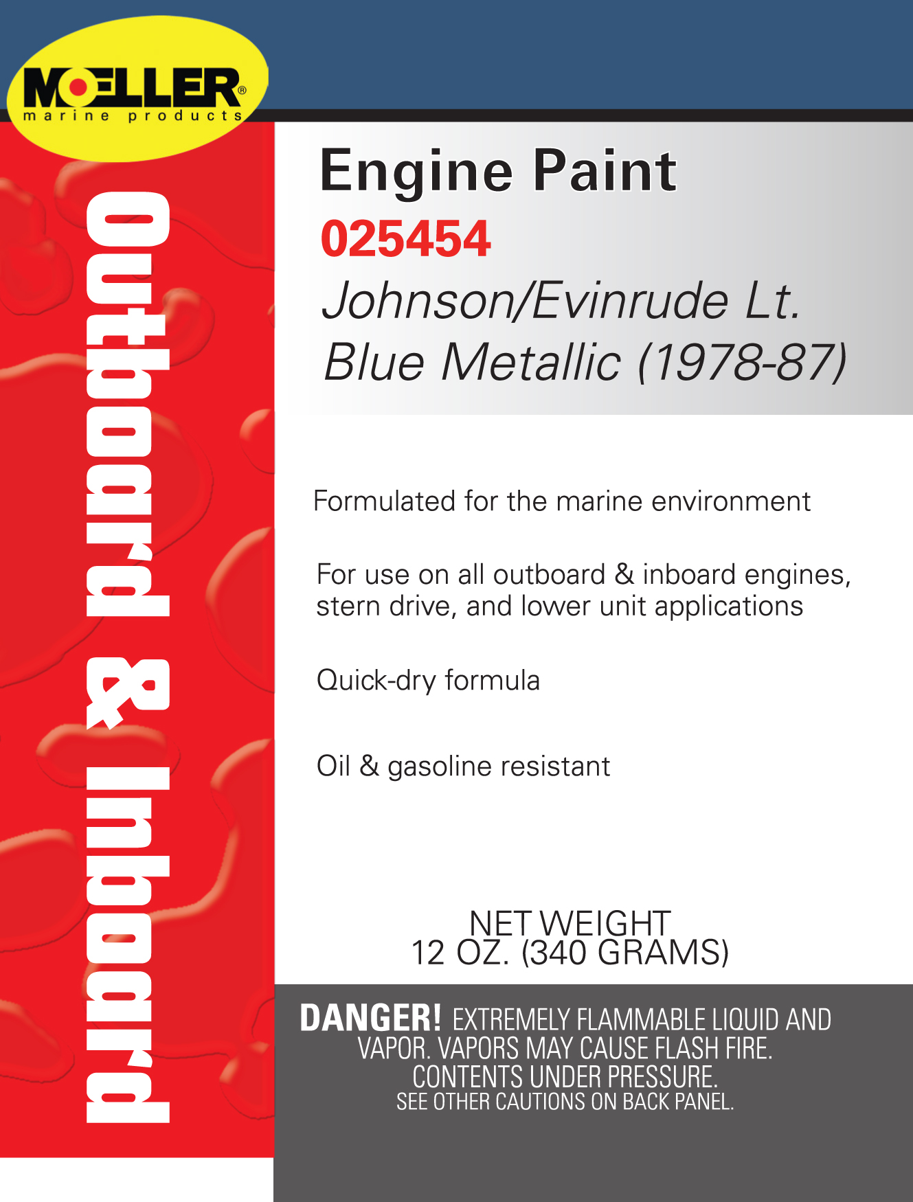 Engine Specific Paint Moeller Marine 1970 Ford Color Chart Johnson Evinrude Light Blue Metallic 1978 1987