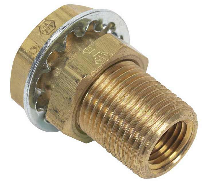Brass bulkhead ″ fnpt