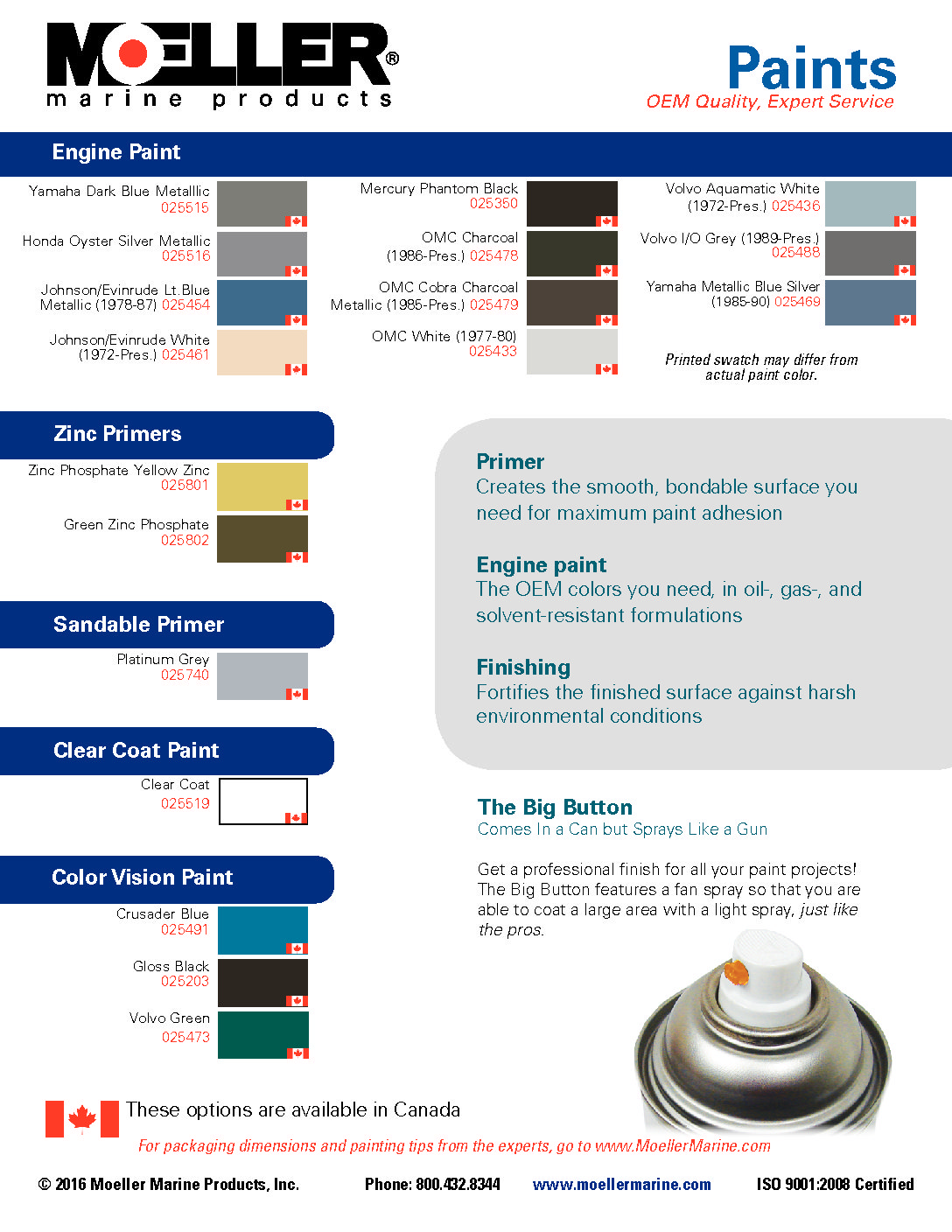 Paint Flyer Canada Options Only